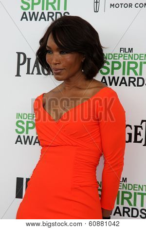 LOS ANGELES - MAR 1:  Angela Bassett at the Film Independent Spirit Awards at Tent on the Beach on March 1, 2014 in Santa Monica, CA