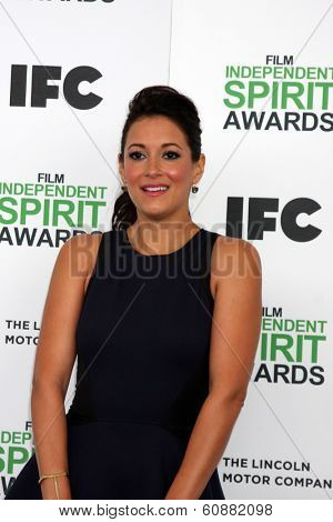 LOS ANGELES - MAR 1:  Angelique Cabral at the Film Independent Spirit Awards at Tent on the Beach on March 1, 2014 in Santa Monica, CA