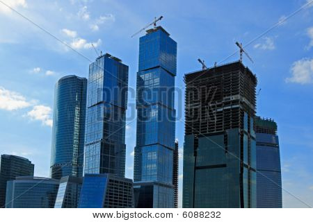 Moscow City Skyscrapers Under Conctruction