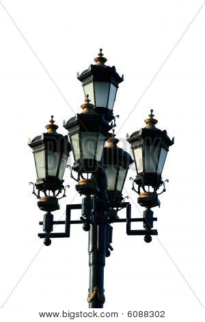 Street Lamp Isolated On White
