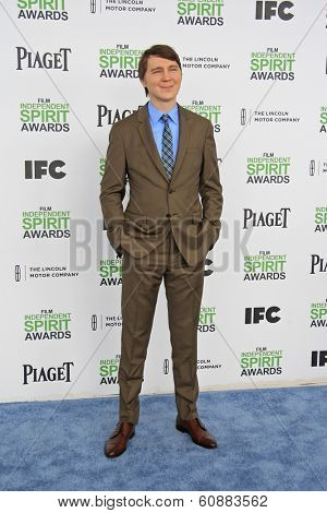 SANTA  MONICA - MAR 1: Paul Dano at the 2014 Film Independent Spirit Awards at Santa Monica Beach on March 1, 2014 in Santa Monica, California