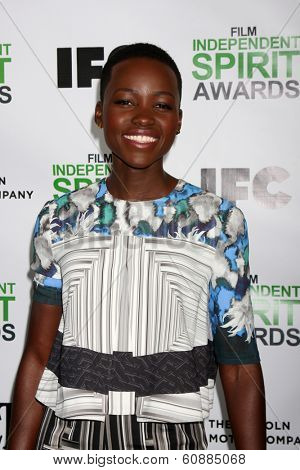 LOS ANGELES - JAN 11: Lupita Nyong'o at the 2014 Film Independent Spirit Awards Nominee Brunch at Boa on January 11, 2014 in West Hollywood, CA