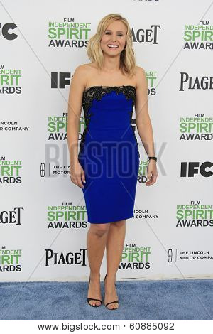 SANTA  MONICA - MAR 1: Kristen Bell at the 2014 Film Independent Spirit Awards at Santa Monica Beach on March 1, 2014 in Santa Monica, California