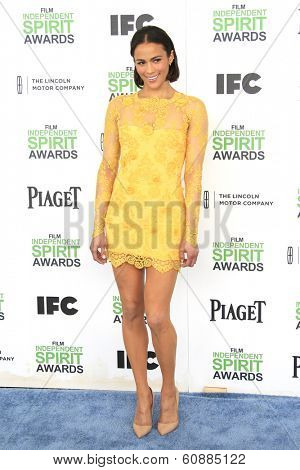SANTA  MONICA - MAR 1: Paula Patton at the 2014 Film Independent Spirit Awards at Santa Monica Beach on March 1, 2014 in Santa Monica, California