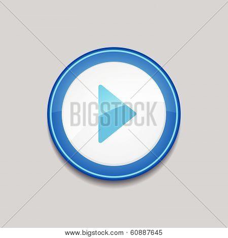 Play Circular Vector Blue Web Icon Button