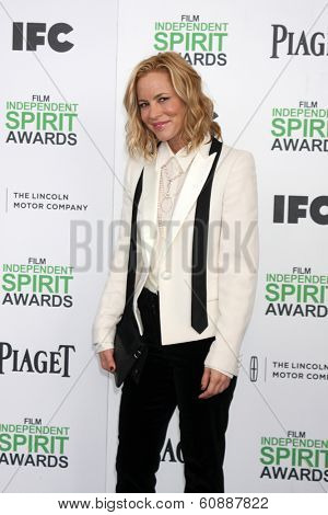 LOS ANGELES - MAR 1:  Maria Bello at the Film Independent Spirit Awards at Tent on the Beach on March 1, 2014 in Santa Monica, CA