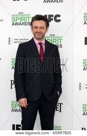 LOS ANGELES - MAR 1:  Michael Sheen at the Film Independent Spirit Awards at Tent on the Beach on March 1, 2014 in Santa Monica, CA