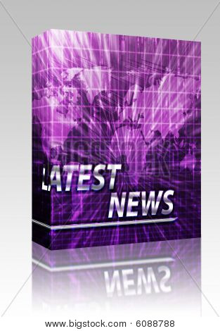 News Splash Screen Box Package