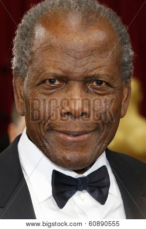 LOS ANGELES - MAR 2:  Sidney Poitier at the 86th Academy Awards at Dolby Theater, Hollywood & Highland on March 2, 2014 in Los Angeles, CA