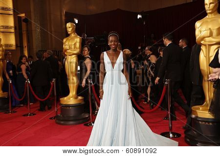 LOS ANGELES - MAR 2:  Lupita Nyong'o at the 86th Academy Awards at Dolby Theater, Hollywood & Highland on March 2, 2014 in Los Angeles, CA