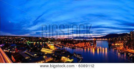 Panorma View Of Burrard Bridge