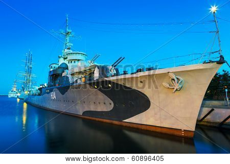 GDYNIA, POLAND - FEB 17: Polish destroyer