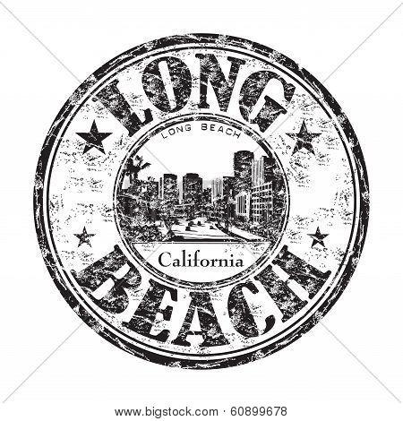Long Beach California stamp