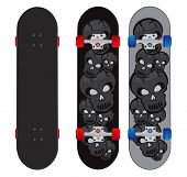 skateboard design illustration