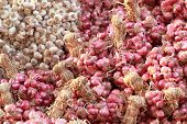 stock photo of red shallot  - Shallot - asia red onion in market