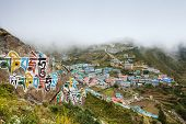 foto of sherpa  - Highland village Namche Bazar in Khumbu region Nepal - JPG