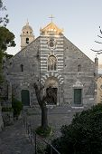 image of promontory  - The historical church of San Pietro situated on the promontory of Portovenere facing Palmaria Island - JPG