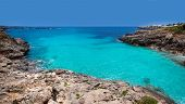 Menorca Platja es Calo Blanc in Sant Lluis at Balearic islands of Spain