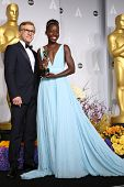 LOS ANGELES - MAR 2:  Christoph Waltz, Lupita Nyong'o at the 86th Academy Awards at Dolby Theater, H
