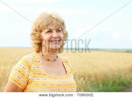Elderly Senior  Woman