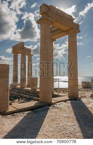 The acropolis of Lindos, Rhodes
