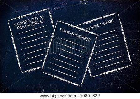 Business Documents: Competitive Advantage, Advertisement, Market Share