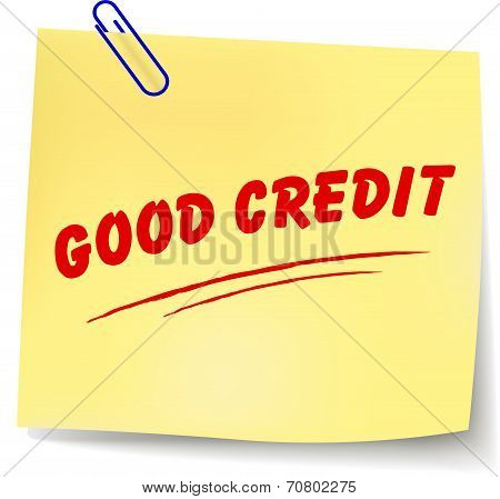 Good Credit Message