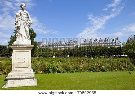 Jardin Des Tuileries In Paris