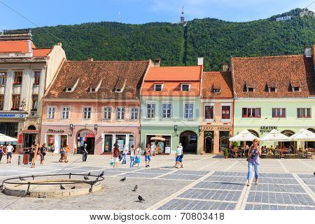 Council Square in Brasov Romania