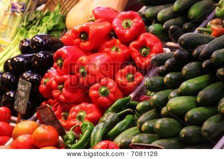Paprika Spice Red Pepper On Food Market