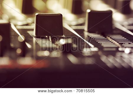 Black Sound Mixer Controller