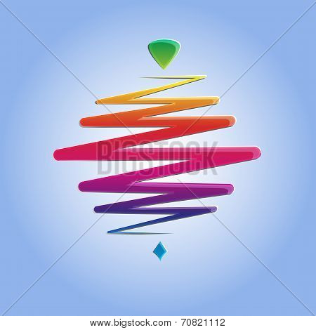 modern color whirligig, on an abstract background. Fast whirlabout. Luminous peg-top.  illustration.