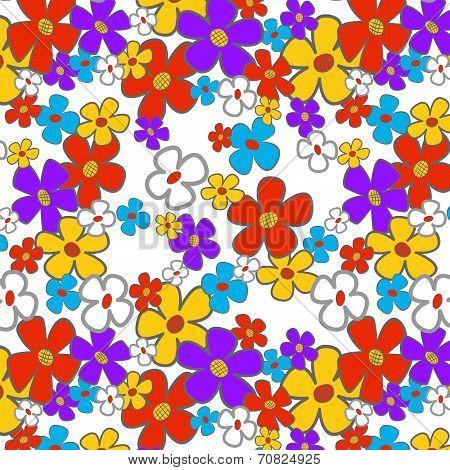Floral Cartoon Seamless