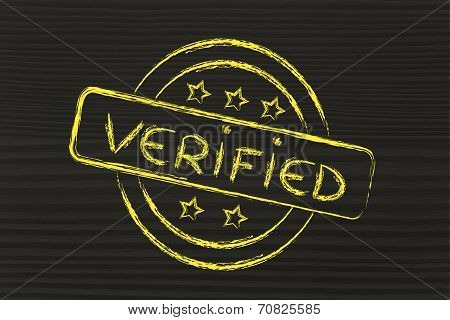 Stamp-like Design With The Word Verified
