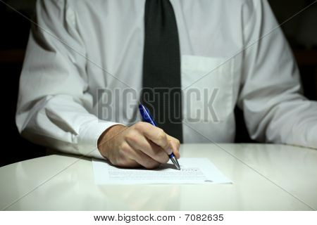 Buisness Man Signing Contract