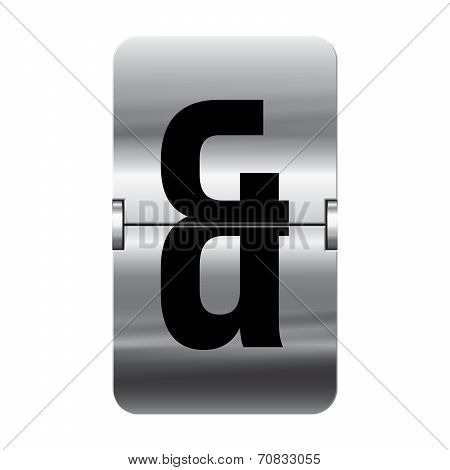 Silver Flipboard Letter - Departure Board - And