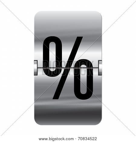 Silver Flipboard Letter - Departure Board - Percent