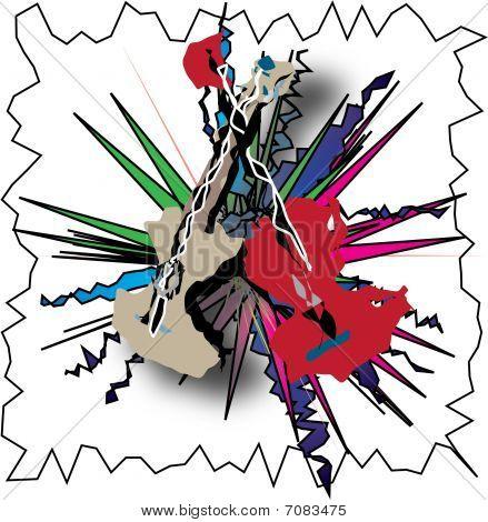 Guitar Abstract Illustration
