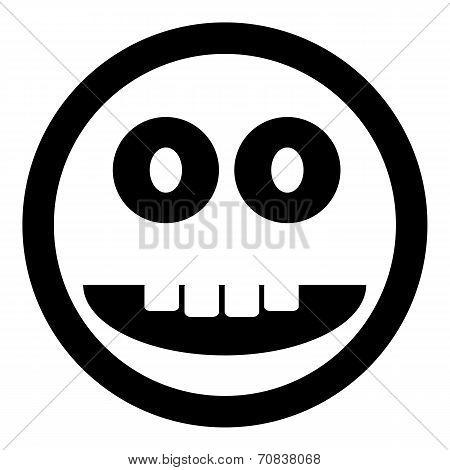 Scary Face Circle Button