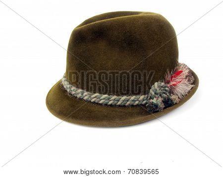 Vintage Hat - Olive Felt