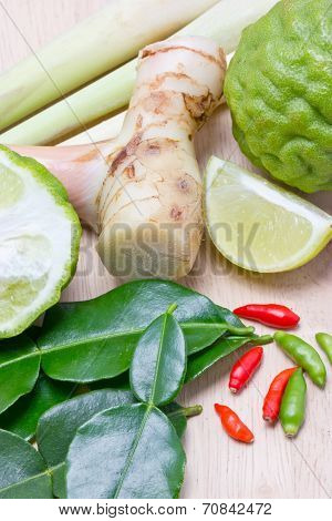 Ingredients For Thai Spicy Food.