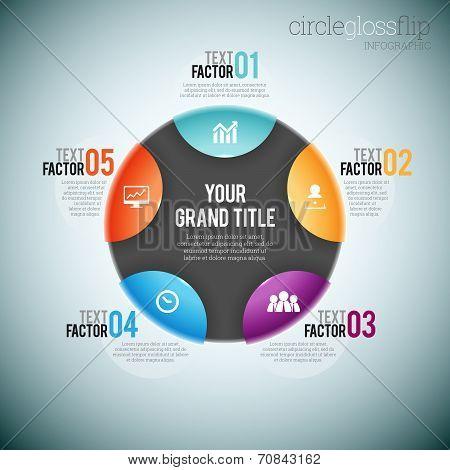Circle Gloss Flip Infographic