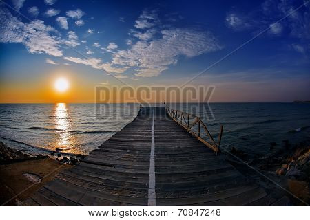 seascape at sunrise, Tuzla, Romania