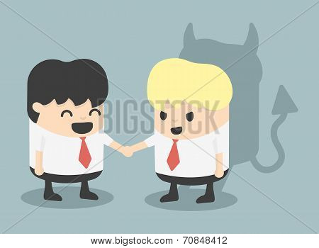 Businessman Handshake Impostor