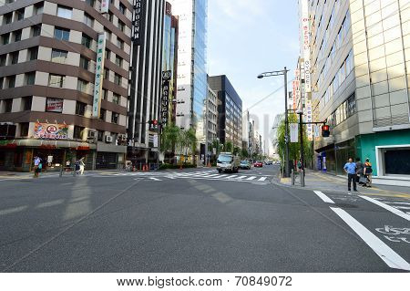 Streets Of The Ginza Area Tokyo, Japan