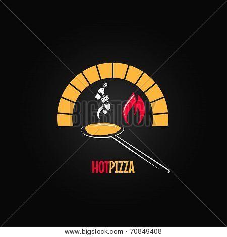 pizza oven design background