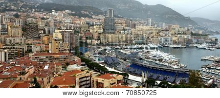 Monaco - A Beautiful View Of Monte Carlo From The Heights