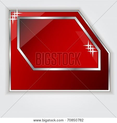Isolated red frame for your text