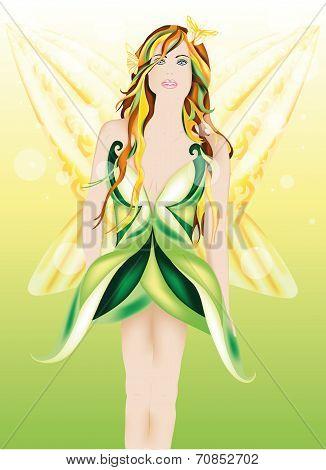 Beautiful fairy of Spring