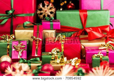 Plenty Of Xmas Gifts Piled Up